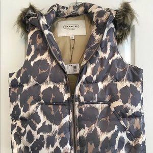 Coach puffer Vest - animal print